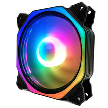 Coolmoon Rubik's Cube 2 Factory Price PC heatsink fan LED Controller RF remote control computer case 120mm <strong>rgb</strong> fan