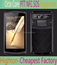 Highton Cheapest Factory 5'' MTK6755 Octa-core 8 core Octacore Rugged Smartphone with Octacore 4g NFC PTT SOS 4G+64G Unlock