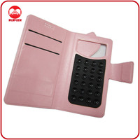 China Manufacturer Wholesale Leather Universal Flip Phone Case With Sucker And Card Slots