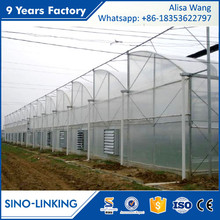 SINOLINK low cost tunnel with sprinkler and sprinkler greenhouse equipment film greenhouse used seeding for sale