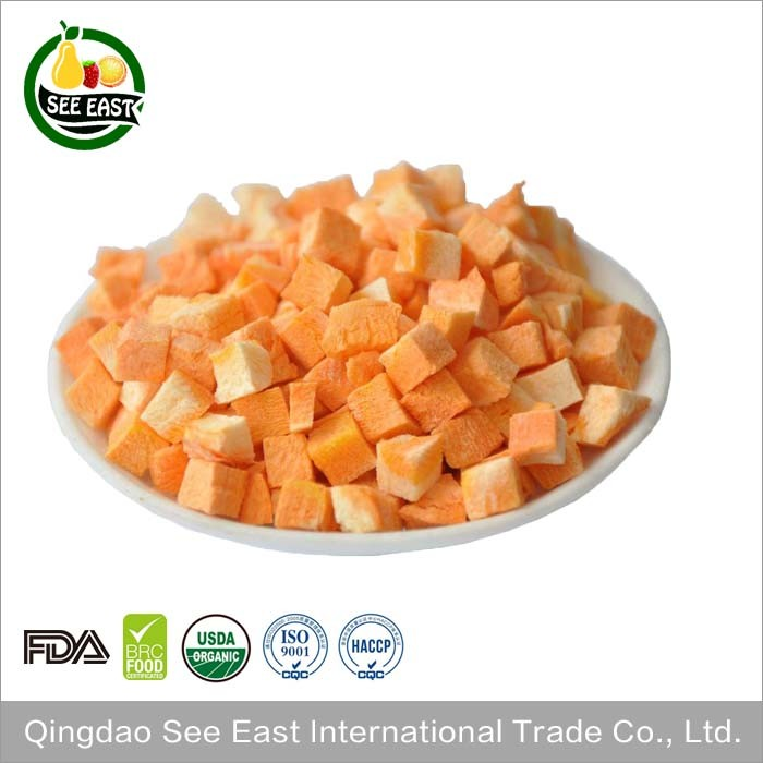 Free Sample Hot Sale Freeze Dried Food Carrot FD Wholesale Carrots
