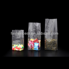 Square Bottom OPP Packaging Bags / Small Plastic Bags For Candy