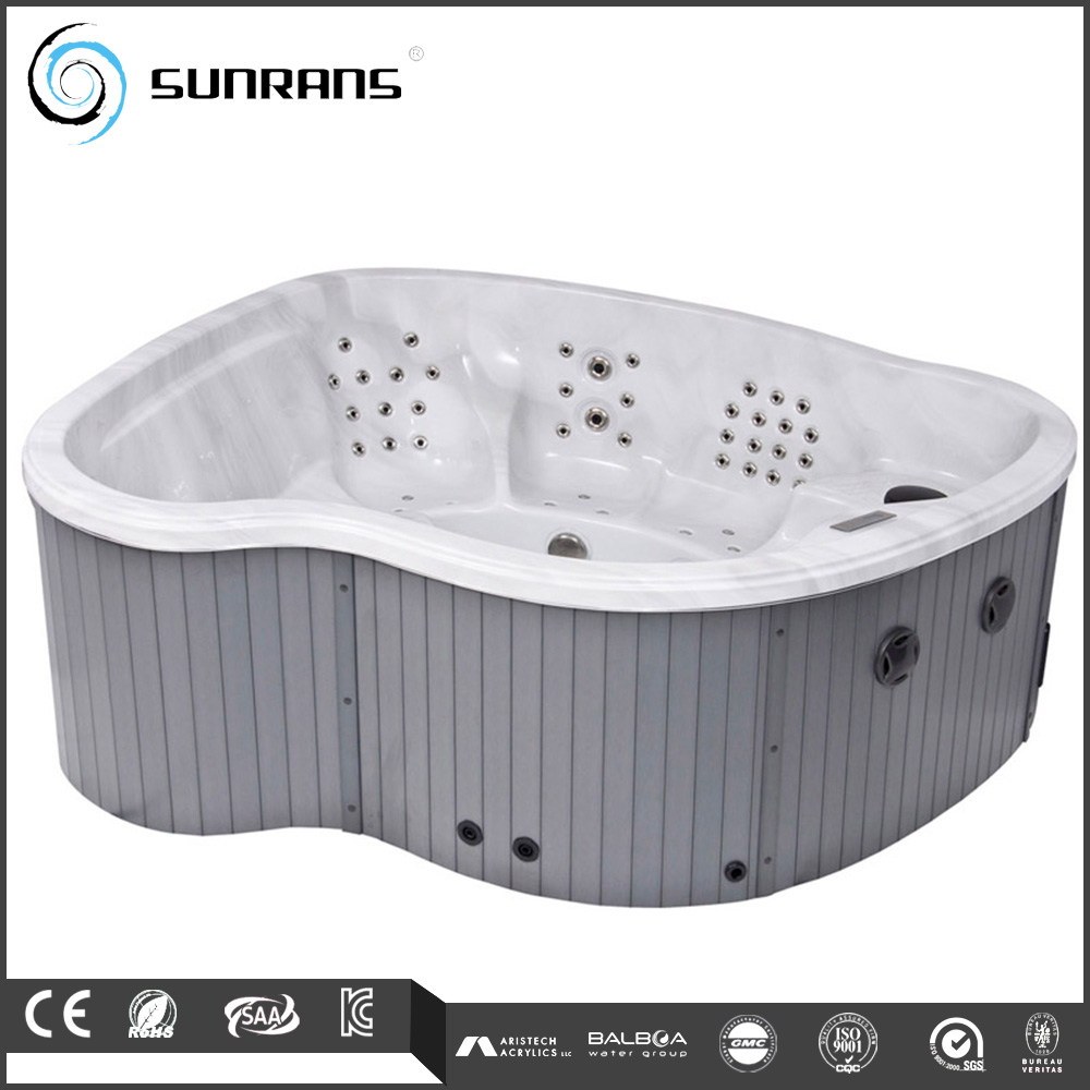 Heart-shaped outdoor spa hot tub enclosure for 6 person