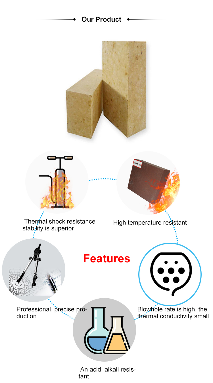 70% 75% Al2o3 High Alumina Refractory Bricks
