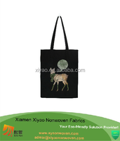 Black High Quality Canvas Beach Bag Low Price eco cotton bag