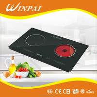 Double Hot Plates Electric Stove with Ceramic Hob Infrared Induction Cooker