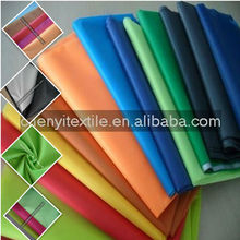 Hot selling 100% polyester taffeta fabric color chart