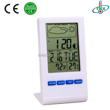Digital Clock Weather Station Thermometer, Hygrometer With Temperature/Humidity Meter Gauge Calendar