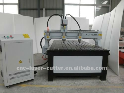 Metal Lathe Bed 3 Big Power spindles Linear Guideway and Gear Driving Large 3D Wood CNC Engraving Machine JCUT-1325B-3
