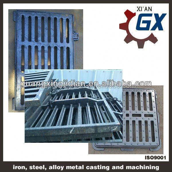 cast iron drainage channel gully grating