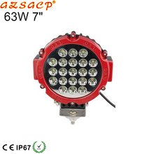 Factory price 63w great white led driving lights,led driving lights round 7 inch for off road