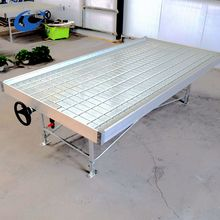 Greenhouse Hydroponic system for large plants Ebb and flow rolling bench