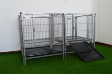 House shape stainless steel dog cage
