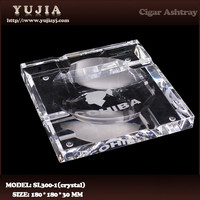 High quality K9 crystal cigar ashtray hotel ashtray promotion gift ashtray