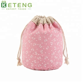Thick material custom printing gift drawstring cotton bag backpack