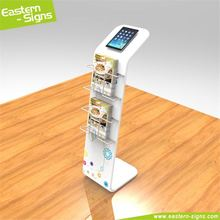 Modern aluminum 100% polyester trade show display floor standing led display android tablet