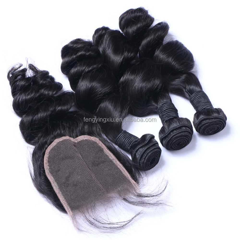 FYX hot sale halo hair extensions expression weaves hair witht clousres angel hair weaves kenya