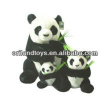 happy pandas family soft baby doll