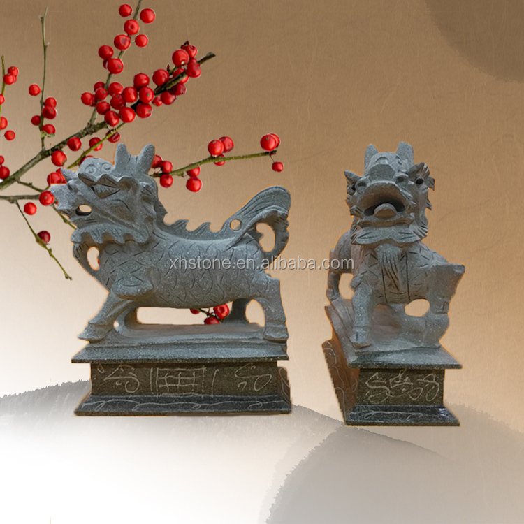 double stone statue marble mini lion with set for bookshelf decoration