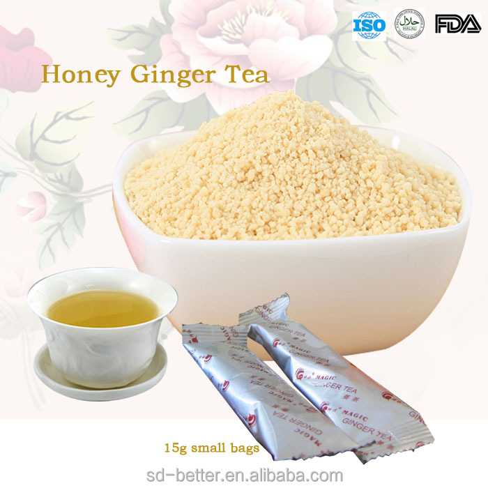 Quality Honey Ginger Tea Powder, Yellow Ginger Tea, Lemon Tea