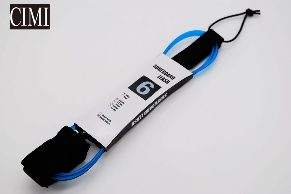 custom print logo surfboard leash plug straight leash
