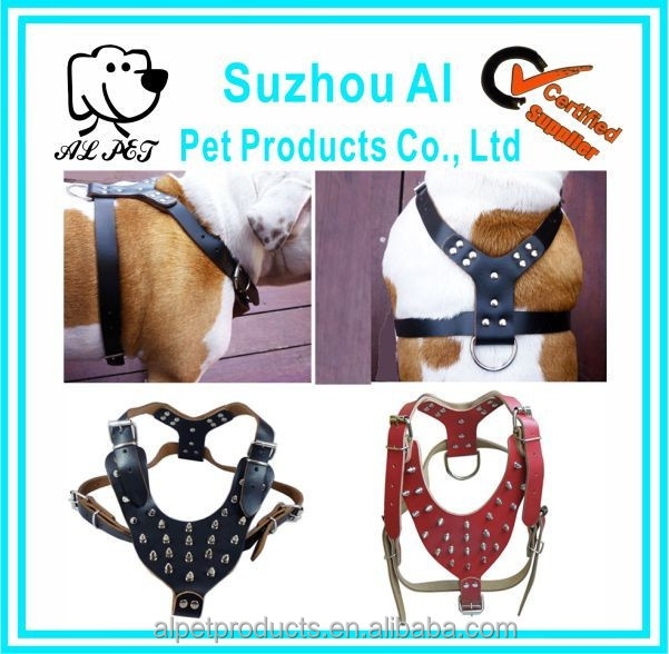 New Spiked Studded Leather Chain Dog Harness