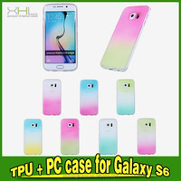 soft case tpu phone case for samsung galaxy s6 edge rainbow color