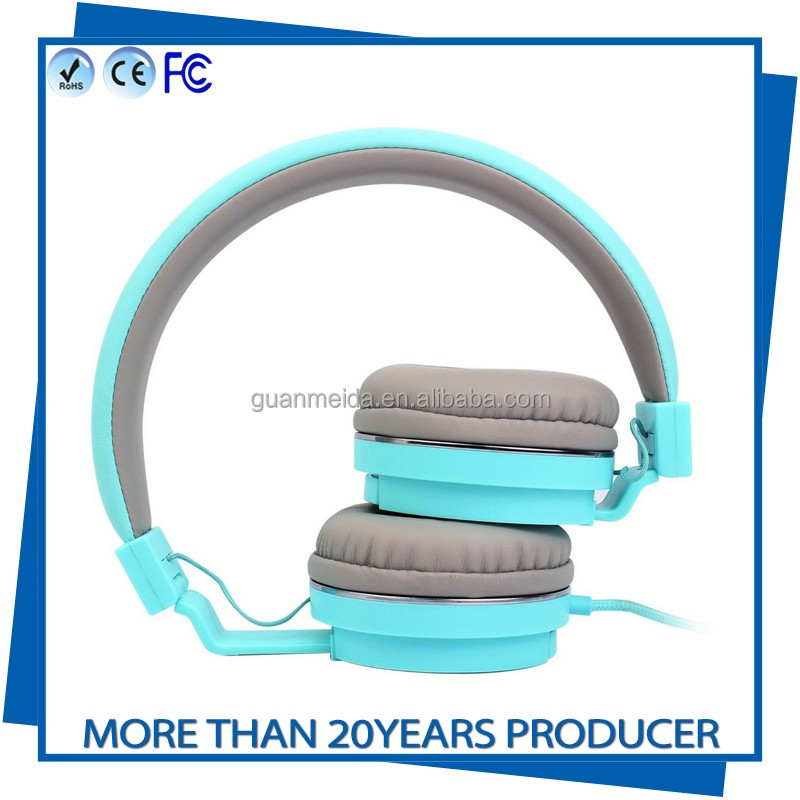 Fashion Children Kids Headfoam Wired Headphones Lighter Headset Portable 3.5mm Earphone With Wire Control Microphone For MP3