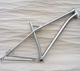 "Hot sale titanium 29er mtb frame 1"" 1/8 fork tapered headtube XTR disc brake mountain bike frame"