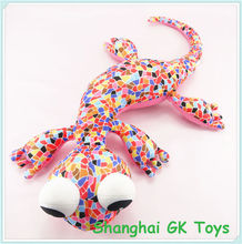 Colorful Spandex Toy Microbeads Gecko Toy