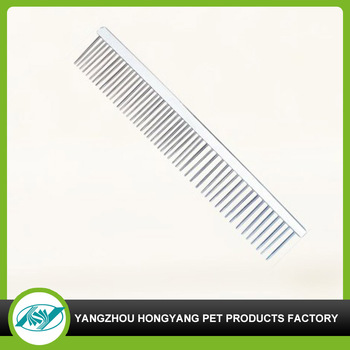 Factory supply stainless steel pet straight comb