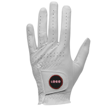 2017 wholesale cheap price personalised leather golf gloves for men