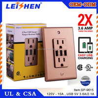 Houseables GFCI Outlet Receptacle, 20 Amp, 10 Pack, Tamper Resistant, Nylon Faceplate Wall Plate, 2 LED Power Indicators, 120/12