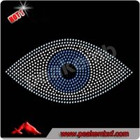 Beautiful evil eye rhinestone iron on transfer for t-shirt