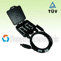 160-250W Solar Powered Junction Box with 3 Diodes, Connector, 100CM Cable, Metal Plugs