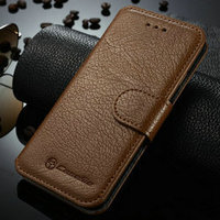 2016 New arival high class for iphone 6 genuine cow leather flip case , 100% real leather wallet cover case for iphone 6