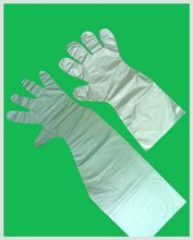 HDPE Disposable Elbow length Glove