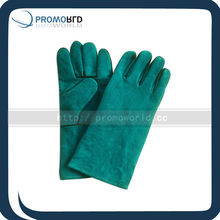"14""Long pig leather working gloves Outdoor working gloves gree working gloves"