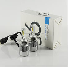 auto parts,New Powerful COB Car LED Headlight kit C6 H4 Hi/Lo Beam 72W 7600LM Car Styling Auto LED Headlamp