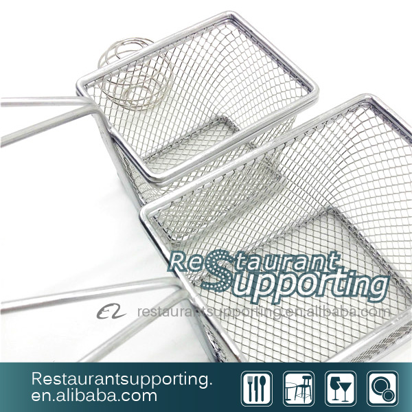 French Mini Square Wire Pasta Strainer/Deep Frying Strainer