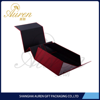 Rigid paper box fold down storage boxes