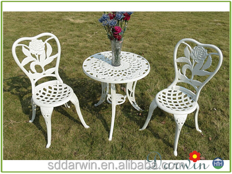 Used Outdoor Casting Iron Aluminum Garden Furniture Table And Chair
