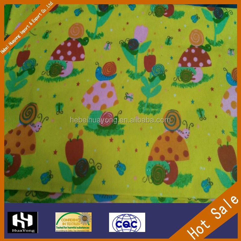 wholesale children active cotton flannel printed cartoon flannel fabric