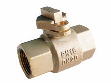 forged brass lockable ball valve brass color