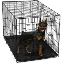 Pet Kennel Cat Dog Folding Steel Crate Animal Playpen Wire Metal Cage