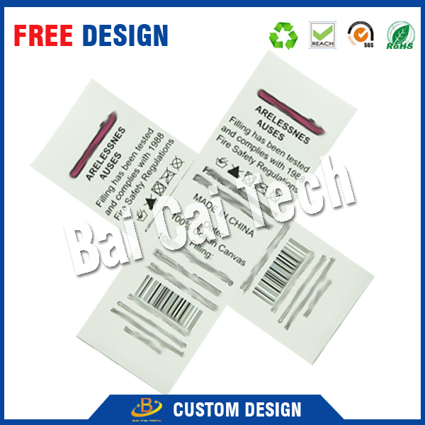 Cheap made good quality 100% polyester satin garment care label