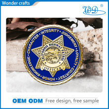 Wonder <strong>crafts</strong> sell high quality 2D customized design copper pure gold plating diamond edged soft enamel cheap souvenir coin