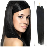 Full head set 22Inch/55cm Grade 5A Straight Brazlilan virgin remy human micro link hair Extension 100s/Pack 1g/s