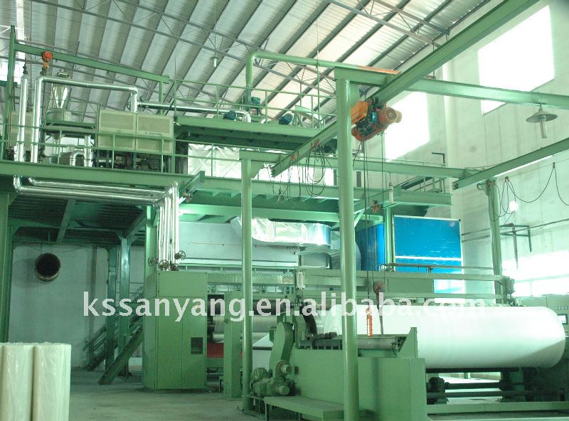 Complete pp nonwoven fabric making production line