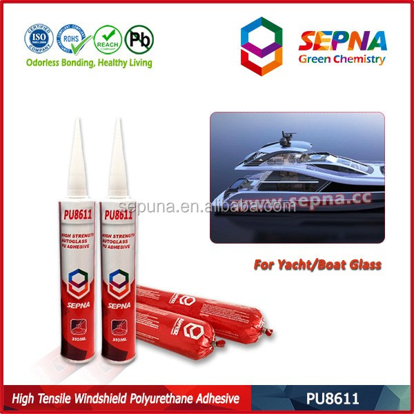 one-component moisture-curable polyurethane-based elastin-metric adhesive sealant for transportation